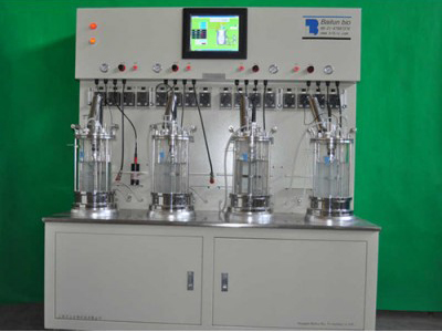 Quadruple glass bioreactor
