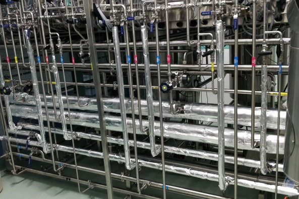 GMP bioreactor pipes and vavles used for E. coli, yeast, fungi, insect cells, plant cells and animal cell culture